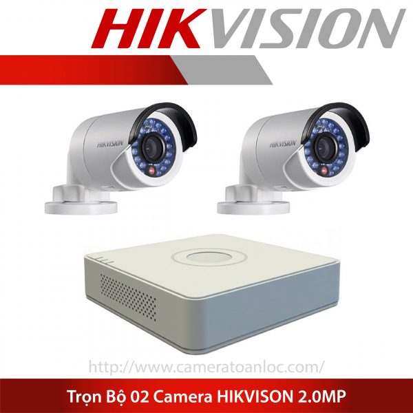 bộ 2 camera 2.0mp hik vision