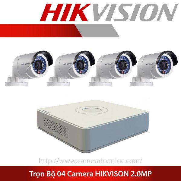 bộ 4 camera 2.0mp hik vision
