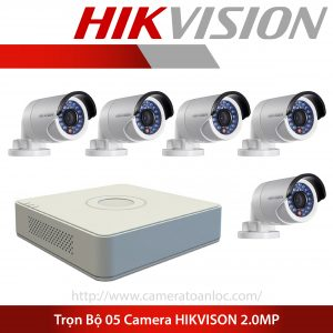 bộ 5 camera 2.0mp hik vision